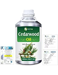 Cedar Wood (Juniperus virginiana) 100% Natural Pure Essential Oil 5000ml/169fl.oz.