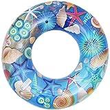 [MARRYME] 子供用 浮き輪 ベビー 赤ちゃん 胴回り ボディリング 幼児 スイムリング フロート 水泳圏 浮具 貝殻柄 海 可愛い お風呂 ポンプ付き (60cm)