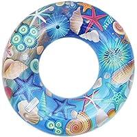 (コ-ランド) Co-land キッズ用 スイムリング 子供用 水泳圏 浮き輪 うきわ 可愛い 水泳用品 ポンプ付き 水遊び プール 海用 海底世界の図案 80
