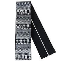 角帯 正絹 -59- 博多帯 長尺 男帯 浴衣帯 絹100% 日本製 幾何学文様