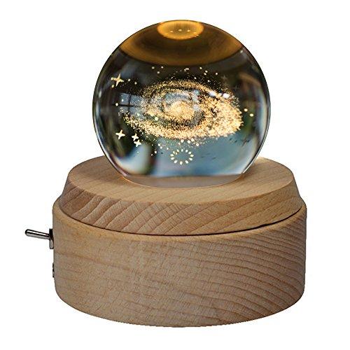 オルゴール 月のランプ 宇宙 クリスタルボール 誕生日プレゼント 間接照明 ベッドサイドランプ LE...