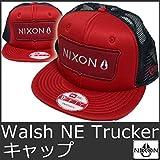 (ニクソン)NIXON 9085 ニクソン ニューエラー メッシュキャップ スナップバック 帽子 赤 レッド Nixon Walsh New Era Trucker Snap Back Hat C1999 RED 【並行輸入品】