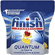 Finish Powerball Quantum Ultimate Dishwasher Tablets, 80 Pack, Lemon Sparkle
