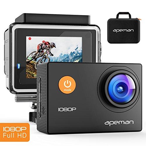 『APEMAN アクションカメラ ウェアラブルカメラ 1080P 1200万画素 30m ...