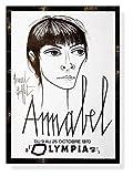 ポスター ベルナール ビュフェ Annabel Olympia music hall 1970年