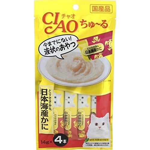いなば チャオ ちゅ〜る とりささみ&日本海産かに 14g×4本 4SC-76