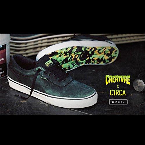 C1RCA サーカ GRAVETTE BLACK/CREATURE 7inch(25cm) 【C1RCA x CREATURE】 サーカ x クリーチャー 靴 スケシュー スニーカー SKATEBOARD スケボー スケート コラボ