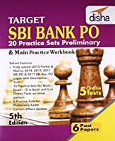 Target SBI Bank Preliminary & Main PO Exam 20 Practice Sets Workbook with Online Tests