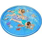 JanusSaja  振りかけるスプラッシュプレイマットパッドのおもちゃ子供水プールインフレータブル屋外夏水おもちゃ