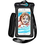 WaterHero® Waterproof Phone Case ✪ Listen to Music Underwater ✪ Universal Fit. Floatable. Waterproof to 100ft/30m deep. - Durable Touch Responsive Waterproof Phone Case for Swimming, Skiing, Camping, Hiking, Kayak, Rafting, Fishing, Scuba Diving, Travel, Beach, Holiday Essentials Equipment Accessories. Premium Dry Bag Cover Pouch. Fits All Mobile Phones. Lifetime Warranty.