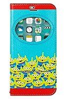 iPhone8 iPhone7 ケース 手帳型 ディズニー 窓付き キャラクター カード収納/エイリアン