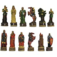 Robin Hood Hand Painted Polystone Chess Pieces