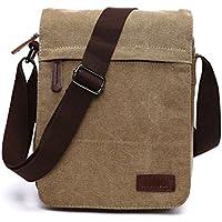 NANJUN Vintage Canvas Messenger Bag Shoulder Bags for Men Women