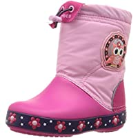 crocs Girls Lodge Point Night Owl Light Boots Party Pink/Candy Pink