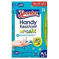 Spontexハンディ耐性モザイク使い捨て手袋40パック