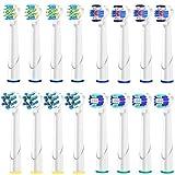 電動歯ブラシ 替えブラシ Qlebao ブラウン オーラルB 対応 替えブラシ ベーシックブラシ 4本×4セット=16本 互換ブラシ