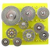 ケース付き! 穴あき ダイヤモンド 切削 ディスクセット カッター ミニ ルーター 10個 セット ( 2.35 mm ) シャンク径 2.35 3.0 3.17