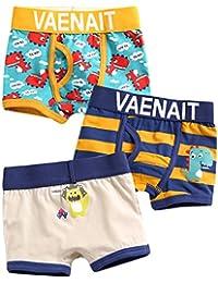 [Vaenait Baby] 2-9歳 子供 綿100% キッズ 男の子 下着3枚組 ボクサー ブリーフ インナー