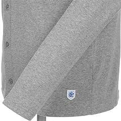 Glacon Cotton Shawl Collar Cardigan: Melange Grey