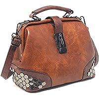 Vegan Leather Women Handbag, Purse with Shoulder Strap, Top-Handle Tote by Purple Relic