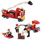 Newisland ブロック 消防シリーズ立体パズル 創造力を育てる子供知育玩具セット 193ピース誕生日プレゼント