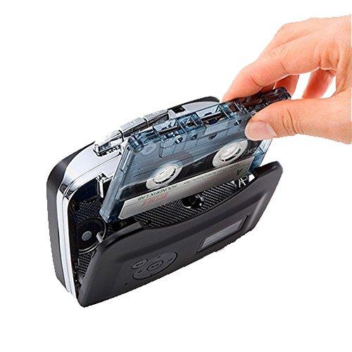 カセットテーププレーヤー PC不要 MP3変換カセットテーププレーヤー 簡単操作でUSBメモリーに直接変換保存 普通のプレーヤーとしても使用可