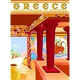 ギリシャクレタ島のIsle Place Cnossosのギリシャ語ビンテージ旅行広告アートポスター印刷Collectible壁装飾。メジャー10x 13.5インチ