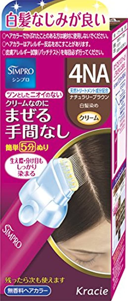 シンプロ ワンタッチ無香料ヘアカラー 4NA