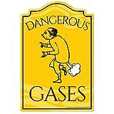 "Dangerous GasesノベルティSign  面白いホーム飾りガレージ壁Loverギャグギフト 13"" X 20"" P-1320 Dangerous Gases"