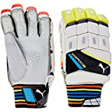 Puma, Cricket, Evospeed 3 Batting Gloves 2016, Youth, Lava Blast/Safety Yellow, Right Hand