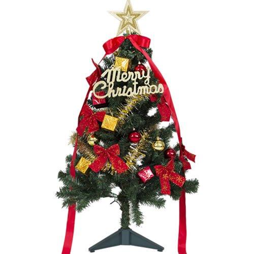 120cm高 クリスマスツリー LED球40個付き オーナメント付 色:グリーン