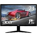 Acerゲーミングモニター KG241bmiix 24インチ/1ms/TN/非光沢/1920x1080/フルHD/HDMI1.4×2/ミニD-Sub 15ピン