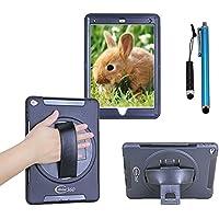 iPad Mini 4 ケース 【Cellular360】オリジナル,Mini 4保護ケース、衝撃防止、360度回転ブラケットとハンドストラップ付き (ブラック)