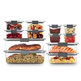 Rubbermaid Brilliance Storage 24-Piece Plastic Lids | BPA Free, Leak Proof Food Container, Clear