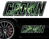 クラウンcrownサイドステッカーmkss12/両サイドセット特大サイズ/かっこいい上質バイナルグラフィック/ワイルドスピード系デカール/限定
