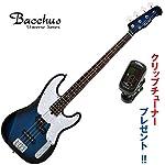 ワンランク上のエントリー・モデル!バッカス・ベース|Bacchus/BTB-PJ TBS (トランスブルーサンバースト) ローズ指板のエレキベース / 創りの良いエントリー・モデル