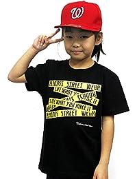 4375 BADASS バダス 5BOX バダス Tシャツ キッズ ブラック×イエロー  ダンス キッズ