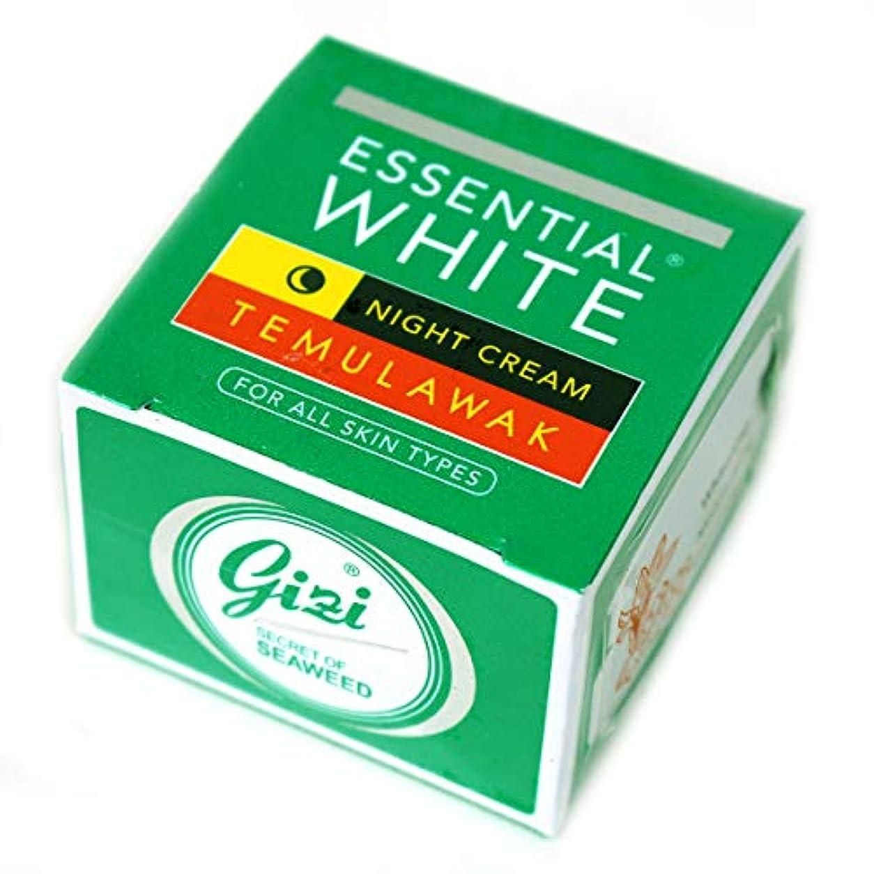 テンポ解明する正しいギジ gizi Essential White ナイト用スキンケアクリーム ボトルタイプ 9g テムラワク ウコン など天然成分配合 [海外直送品]