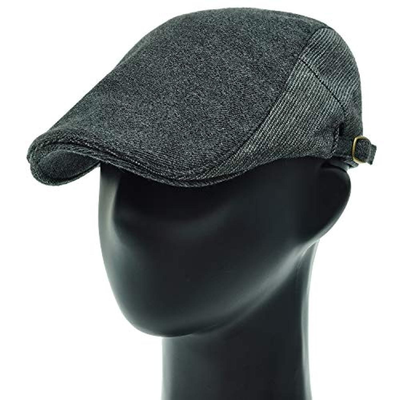 [PLIC N PLOC]EMH12.ストライプ配色メンズベレー帽 ハンチング フラットキャップ帽子 鳥打ち帽 春 秋