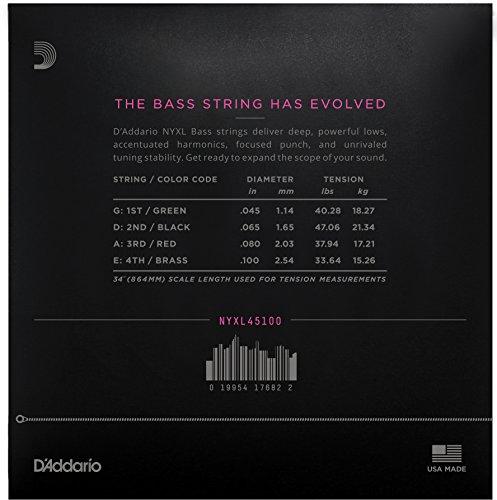 D'Addario ダダリオ ベース弦 NYXL Long Scale .045-.100 NYXL45100 【国内正規品】