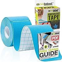 ブループレカットキネシオロジーテープ - プレカットマッスルテープスポーツテープストラッピングキネシオテープスポーツ|ビスタプリントプロテープ5メートル医療テープロールラベルなしH20テープ20 xプレカットフィジオテープ筋肉ストリップ - 安い、ディスカウント価格無料のPDF電子ブックテーピングガイド