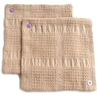 華布 オーガニックコットンの布ナプキン スナップ付ライナーM (約15×約15) 2枚入り (パープル)