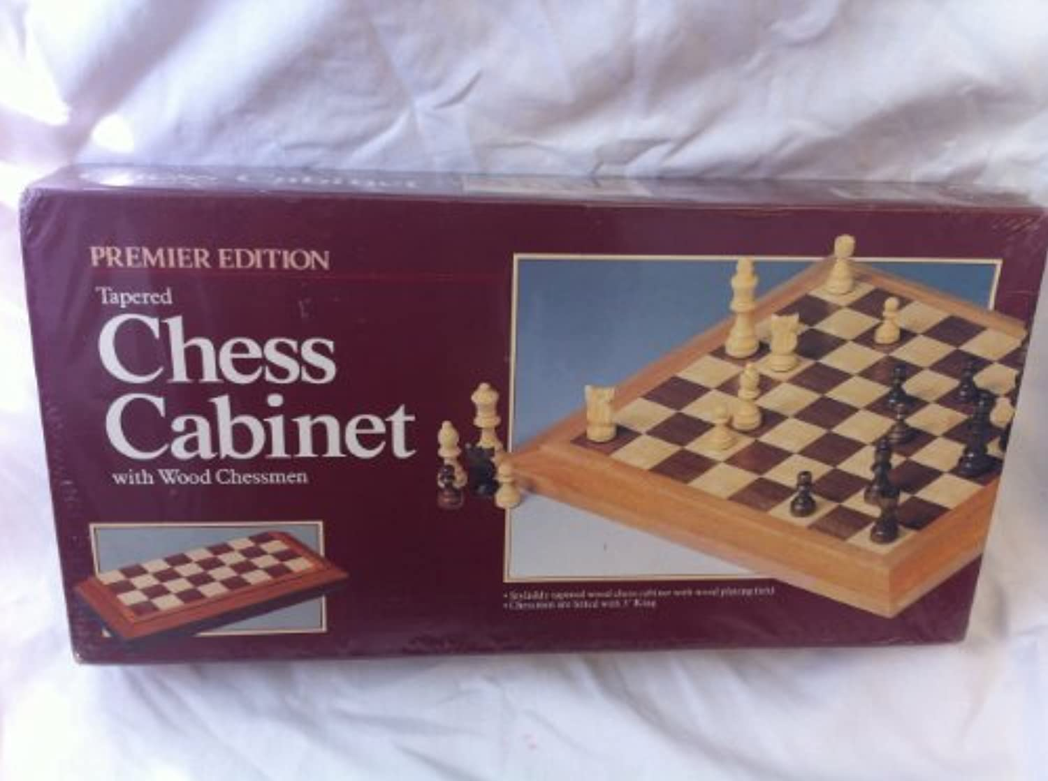 Wood Chess and Checkers Cabinet