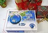 240ピース 3D球体パズル ブルーアースII-地球儀- 画像