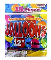 15 Piece Helium Quality Balloon Set (12in Ballons)