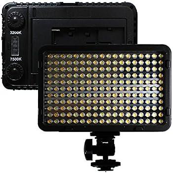 LOE 定常光ライト LED 198球 大光量 1250ルーメン 色温度調整機能 単三電池・バッテリー 対応 (198B)