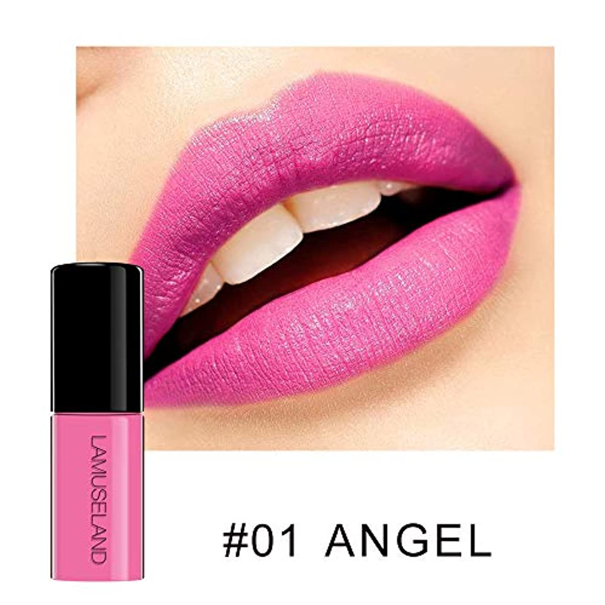 MeterMall 防水長続きがする無光沢の液体の口紅の裸の唇の光沢のビロードの唇の色合いの構造 #01 ANGEL 3.5g