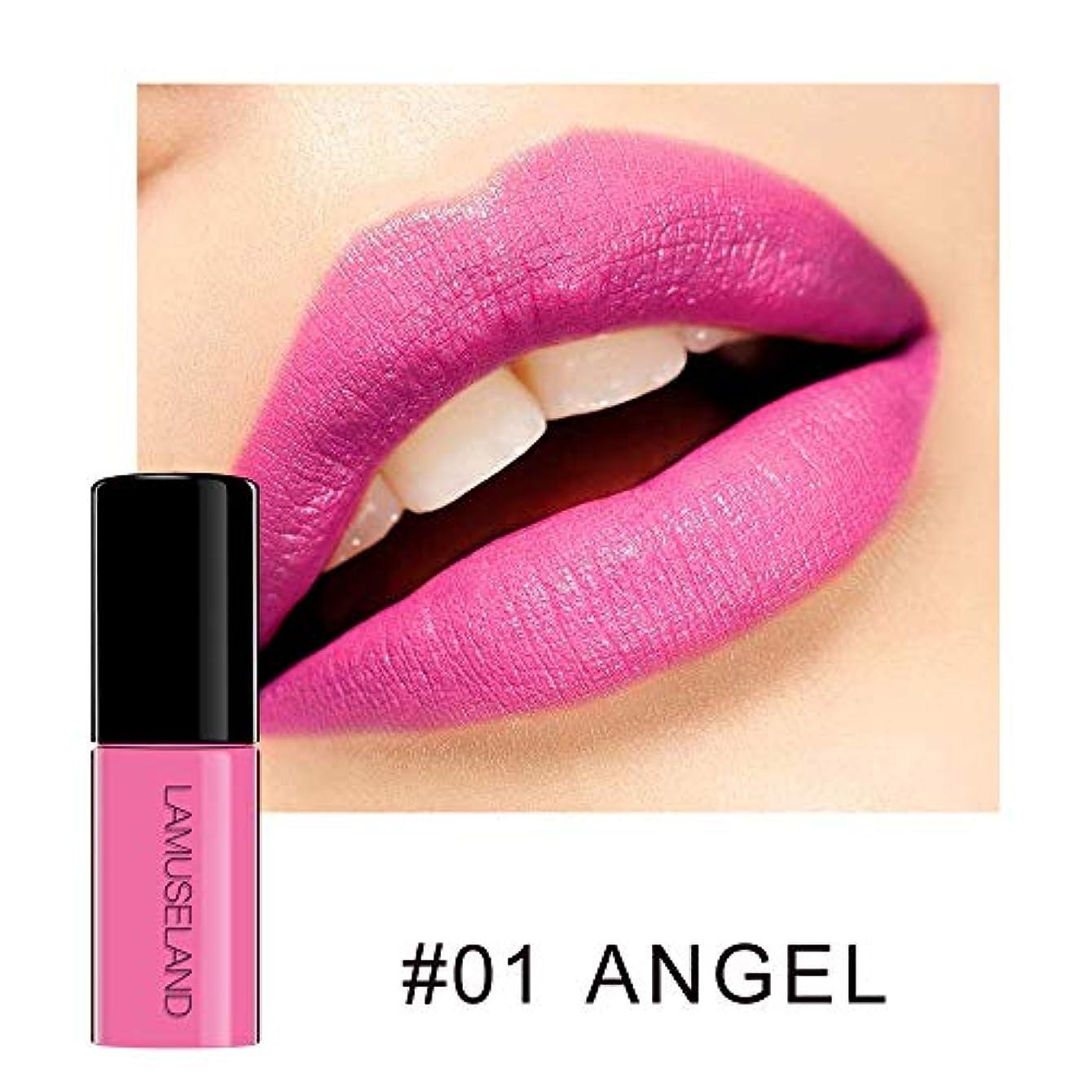 オーナー戦い司書MeterMall 防水長続きがする無光沢の液体の口紅の裸の唇の光沢のビロードの唇の色合いの構造 #01 ANGEL 3.5g
