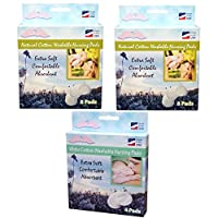 NuAngel All-Natural Cotton Washable Nursing Pad Set, White by NuAngel