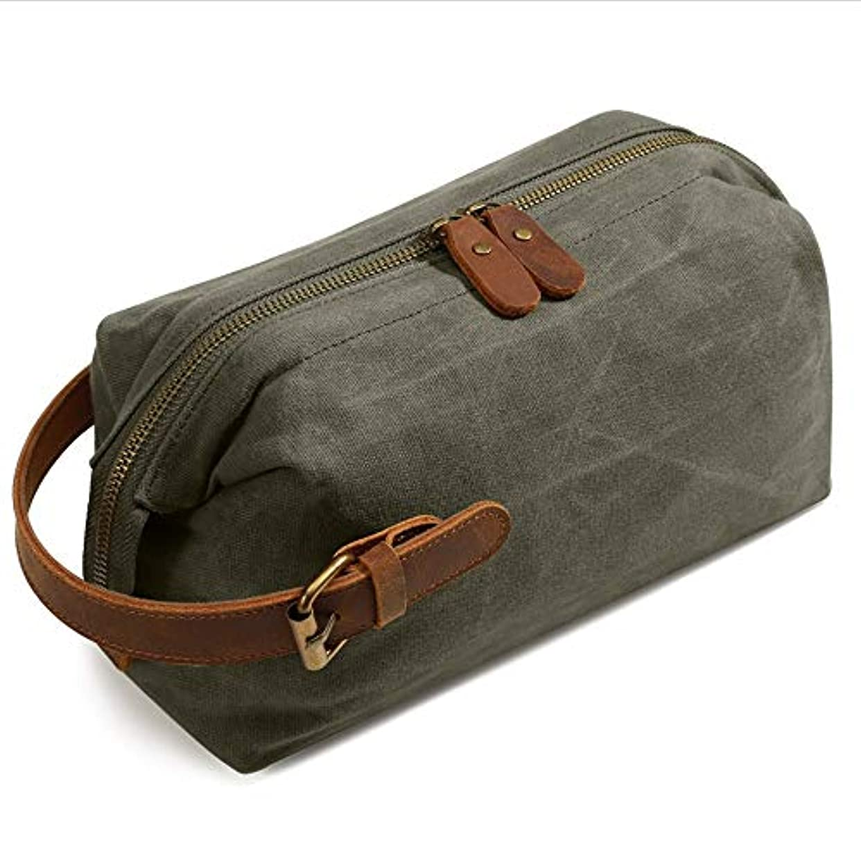 キャンプ大量欠かせない化粧オーガナイザーバッグ ポータブル防水化粧品袋トップジッパーメークアップケーストラベルグリーン 化粧品ケース (色 : 緑)